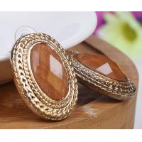 China Opal Gemstone Delicate Fashion Jewelry Earrings Costume Jewelry Brown Color on sale