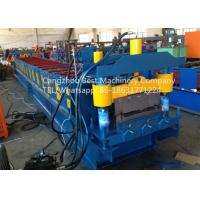 China Strength And Durability Roofing Sheet Roll Forming Machine Hydraulic Cutting Type wholesale
