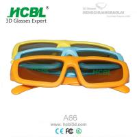 Kids Pasive Circular Polarized Disposable 3D Glasses Yellow / Blue / Orange