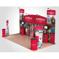 China Tension Fabric Displays Aluminum Curved Top Pop Up Banner Stands wholesale