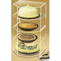 China Acrylic Bakery Display Case , 4-Shelf Pie Display Stand Showcase wholesale