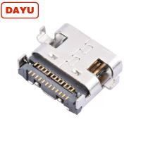 China SMT PCB Mount 24 Pin Female Connector , 3.0 Usb Type C Female Connector on sale