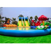 China Large Inflatable Water Parks with Inflatable Slide And Pool for Outdoor Playing wholesale