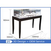 China OEM Simple inexpensive Wooden Jewellery Shop Counter Design  With Led Lights wholesale