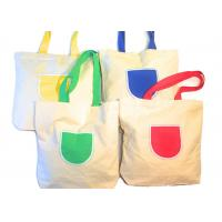 China Canvas Tote Shoulder Bags Reusable Beach Bags , Grocery And Shopping Bags wholesale