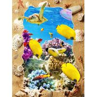 China 5d Deep Effect Ocean Feature Images Custom Lenticular Printing For Office / Hotel Decoration wholesale