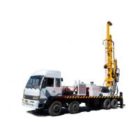 China 8X4 heavy duty truck mounted top head water well drilling rig by mud drilling and air compressor drilling wholesale