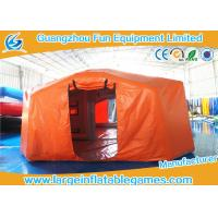 China Air Tight Inflatable Air Tent For Emergency , Emergency Air Tent With Flame Retardant Material on sale