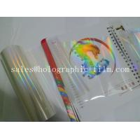 China customized thermal & hot holographic transparent lamination film for paper board on sale