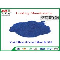 China Cotton Dyes Blue Dye Stuff Rsn Vat Blue 4 Chemicals Used In Textile Dyeing wholesale