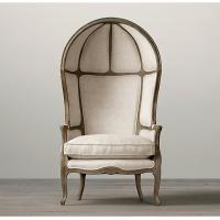 China Traditional Versailles Fabric Living Room Chairs With Dramatic Dome And Deep Wings wholesale