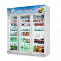 China Flowers Drinks Commercial Beverage Cooler Display showcase With Double Doors wholesale