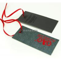 China Rectangle Clothing Hang Tags With Deboss Logo , Brand Sewing Tags For Business wholesale