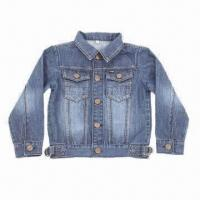 China Soft Children's Denim Jacket for Boys, Made of 100% Cotton, Customized Brands and Colors Accepted on sale
