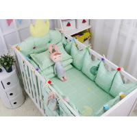 China Green Elephant Unique Girl Baby Bedding Sets 100% Cotton Bed Reducer Size Adjustable wholesale