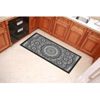 China Black And Grey Decorative Door Mats 40x60cm 40x80cm Sizes For Home Entrance wholesale