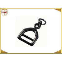 China Zinc Alloy Metal Shoe Buckles Clips With D Ring Custom Black Color wholesale