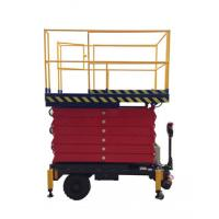 China 6 meters height mobile hydraulic scissor lift with motorized device loading capacity at 450Kg wholesale