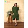 China Cotton Chinese Style  Long Sleeve Maxi Dress wholesale