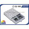 China Handmade Delicate Rigid Slide Box Silver Cardboard Liners Paper Drawer Box wholesale