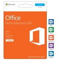 China Microsoft Office Home and Business 2016 Retail product Key Genuine Online Activation For Windows -1PC wholesale