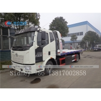 China FAW 4X2 wrecker rescue truck Recovery Tow Truck Vehicle with towing device wholesale