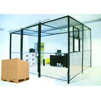 China Predesigned 2 Sides Wire Mesh Storage Cages , Tool Security Cages For Storage wholesale