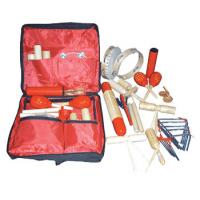 China Full Set Mini Percussion Kids Musical Instrument Complete Wooden Toys Set Leather Bag wholesale
