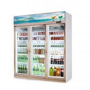 China Store Glass Door Freezer 5 Layer And Adjustable Shelf 1630 * 600 * 2120 wholesale