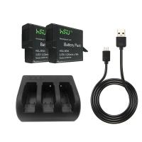 China Gopro Hero 5 Accessories , 3.85 V Camera Battery and DC 5V /2A 3 - Channel Charger wholesale