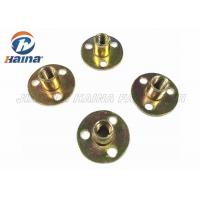 Quality Zinc plated Round Base T Nut With Three Brad Hole , Tee Nuts Or Furniture Nut for sale