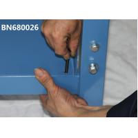 Quality Blue Industrial Work Benches 15 Inch Lower Shelf With Back Stop 60 Inch Wide for sale