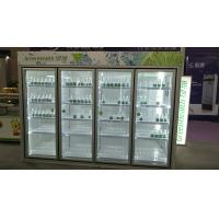 China Automatic Defrost Commercial Beverage Cooler / Walk In Fridge Freezer With Glass Door wholesale
