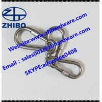 Buy cheap DIN 5299CSnap hook /carabiner/safety hook with safety screw/lock/nut from wholesalers