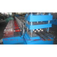 China PLC Control Crash Barrie Guardrail Roll Forming Machine , Highway Guardrail Making Line wholesale