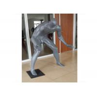 China Gray Adults Sports Plus Size Retail Display Mannequins Fiberglass For Shopping Mall wholesale