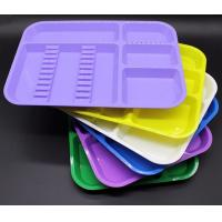 China High Quality Good Price Autoclavable plastic dental partition tray with different colors wholesale