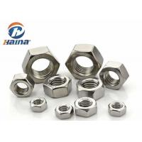 Quality DIN 934 JIS B Stainless Steel 304 / 316 Hexagon Head Nut M2 - M160 for sale