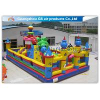 China Outside Inflatable Amusement Theme Parks With Bounce House Waterproof PVC wholesale