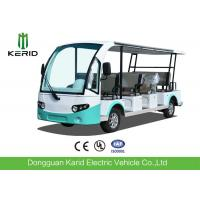 Buy cheap 4 Wheel Electric Sightseeing Car , 11 Seats Electric Passenger Vehicle With Sun Curtain from wholesalers