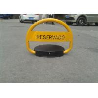 China Waterproof Yellow Automatic Parking Lock With Smart Remote Control System on sale