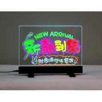 China Tabletop Sign Holders Acrylic Advertising Display With Colorful Led Display wholesale