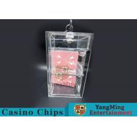 China Transparent Security Casino Card Holder With  Laser Engraving Craftsmanship wholesale
