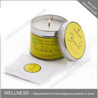 China Essential Oil Colorful Scented Tin Candles Handmade With Customized Fragrance wholesale