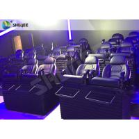 China SGS Certification 5D Cinema Movies Theater 3 Seat Black Motion Chairs Genuine Leather wholesale