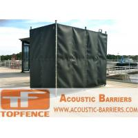 China Temporary Sound Barriers Fence Covered with Noise Blanket wholesale