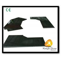 China Xiamen Kungfu Stone Ltd supply Absolute Black Stone Countertops In High quality and cheap price wholesale