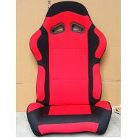 China Black And Red Sport Racing Seats Universal Cars Parts Foldable With Safety Belts wholesale