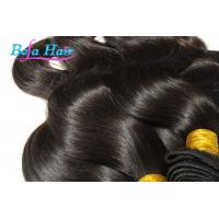 China White Girl Eurasian Virgin Hair Weave Wine Red / Brown Hair Extensions wholesale