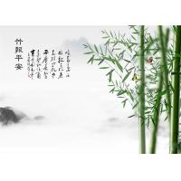 China Water Proof Bamboo Fiber Board Chinese Style Bamboo With Poems Landscape wholesale
